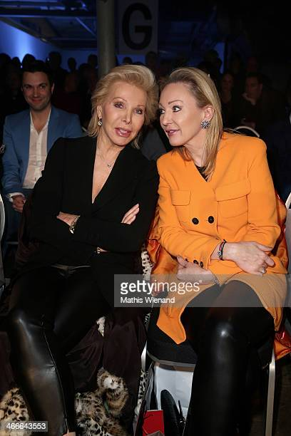 Ute Ohoven and guest attend the Thomas Rath fashion show during Platform Fashion Dusseldorf on February 2 2014 in Dusseldorf Germany