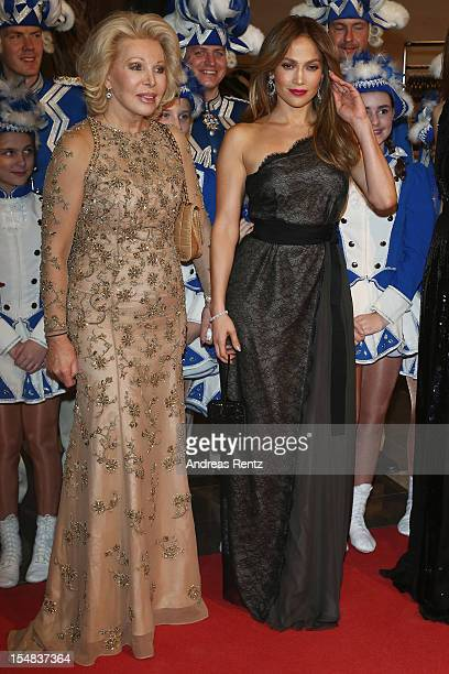 Ute Ohoven and Jennifer Lopez attend the 21st UNESCO Charity Gala 2012 on October 27 2012 in Dusseldorf Germany