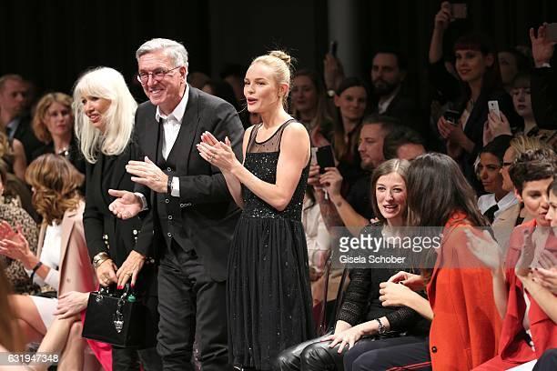 Ute Schlotterer and her husband Helmut Schlotterer Founder and CEO of Marc Cain Kate Bosworth Alexandra Maria Lara Bettina Zimmermann Jasmin Gerat...