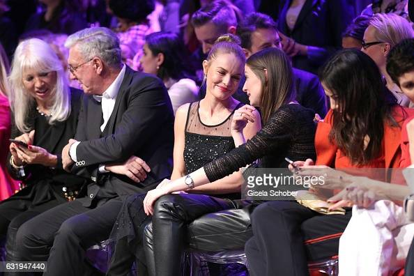 Ute Schlotterer and her husband Helmut Schlotterer Founder and CEO of Marc Cain Kate Bosworth and Alexandra Maria Lara during the Marc Cain fashion...
