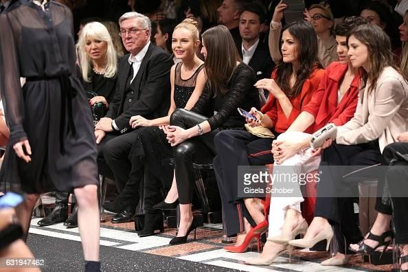 Ute Schlotterer and her husband Helmut Schlotterer Founder and CEO of Marc Cain Kate Bosworth Alexandra Maria Lara and Bettina Zimmermann Jasmin...