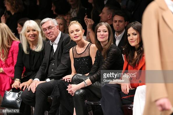 Ute Schlotterer and her husband Helmut Schlotterer Founder and CEO of Marc Cain Kate Bosworth Alexandra Maria Lara and Bettina Zimmermann during the...