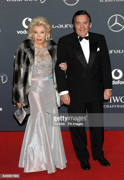 UteHenriette Ohoven and husband Mario Ohoven arriving for 2012 Laureus World Sports Awards at Central Hall Westminster Storey's Gate London