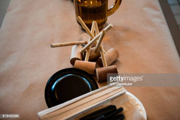 Utensils for eating crab are seen at Cantler's Riverside Inn June 28 2017 in Annapolis Maryland A unique multimillion dollar industry crab fishing is...