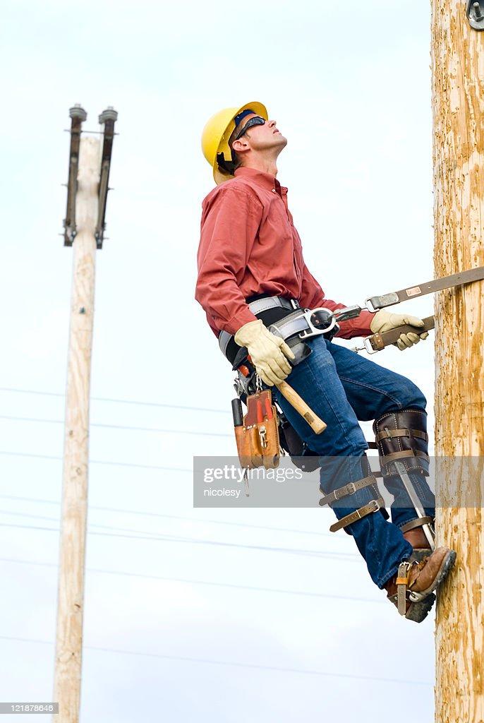 Utility Lineman : Stock Photo