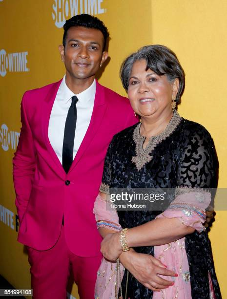 Utkarsh Ambudkar and his mom attend the premiere of Showtime's 'White Famous' at The Jeremy Hotel on September 27 2017 in West Hollywood California
