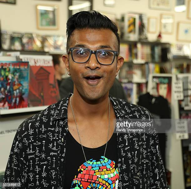 Utkarsh Ambudkar attends DD Live From Meltdown Comics Comics and Collectibles on June 1 2016 in Los Angeles California