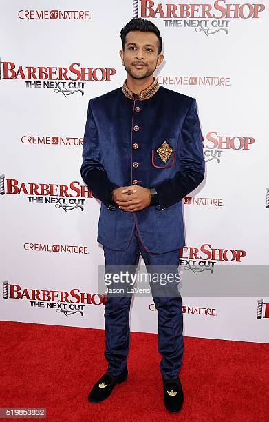 Utkarsh Ambudkar attends the premiere of 'Barbershop The Next Cut' at TCL Chinese Theatre on April 6 2016 in Hollywood California