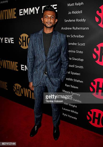 Utkarsh Ambudkar attends the Showtime Emmy Eve Party at Sunset Tower on September 17 2016 in West Hollywood California
