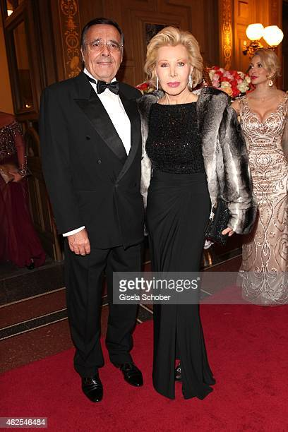Uto Ohoven and her husband Mario Ohoven during the Semper Opera Ball 2015 at Semperoper on January 30 2015 in Dresden Germany