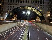 Utrechtsebaan highway at night