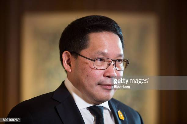 Uttama Savanayana Thailand's minister of industry poses for a photograph following a Bloomberg Television interview on the sidelines of the...