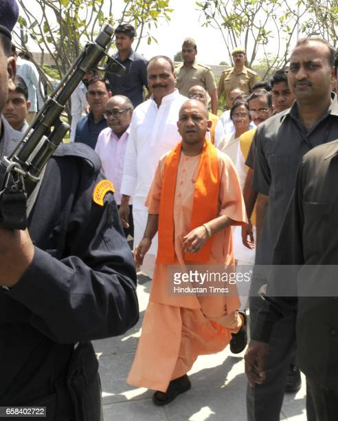 Uttar Pradesh Chief Minister Yogi Adityanath and Deputy Chief Minister Dinesh Sharma inspecting Gomti River Front the dream project of former Chief...
