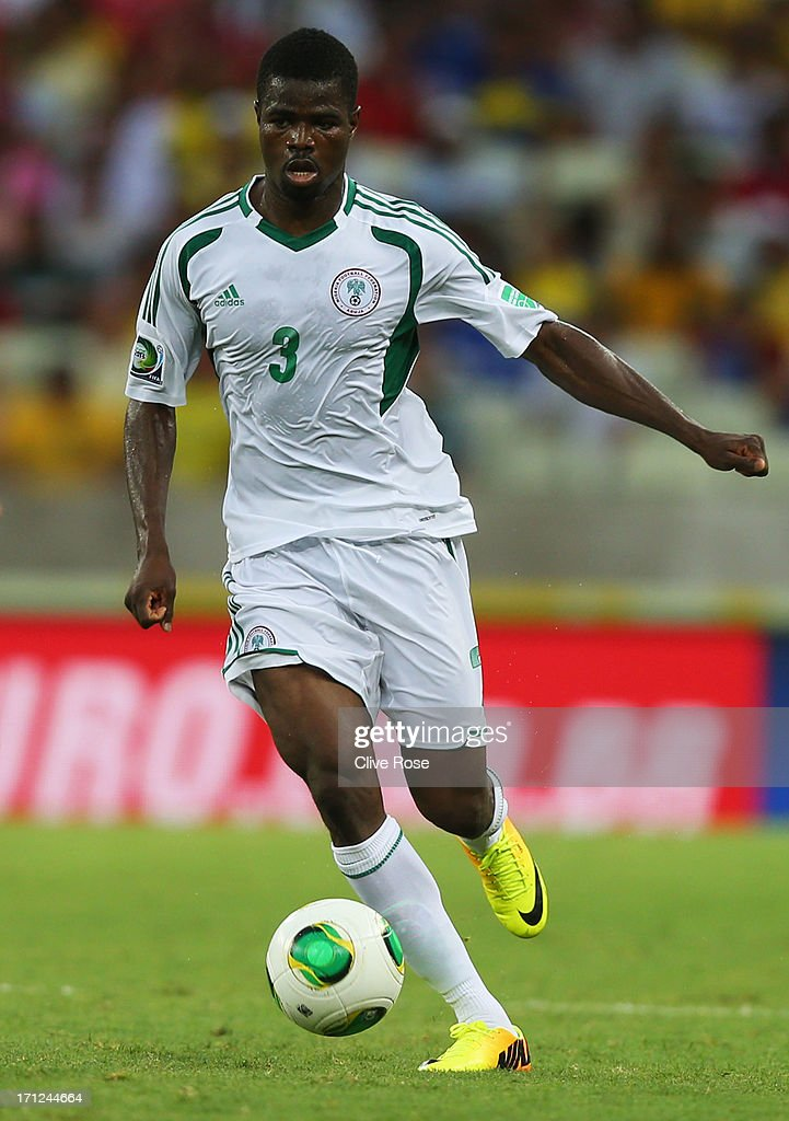 Uwa Elderson Echiejile of Nigeria in action during the FIFA Confederations Cup Brazil 2013 Group B match between Nigeria and Spain at Castelao on June 23, 2013 in Fortaleza, Brazil.