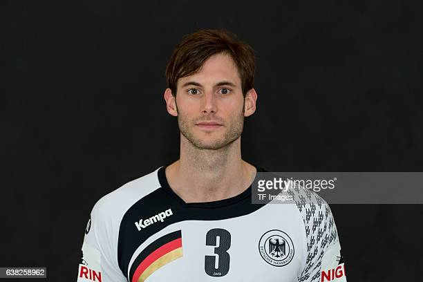 Uwe Gensheimer of Germany poses during the handball national team of Germany presentation prior to the Handball World Championship in France on...