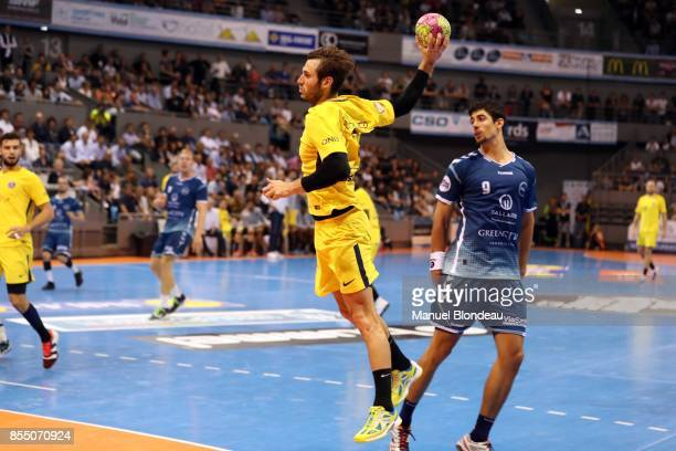 Uwe Gensheimer of Paris SG during the Lidl Starligue match between Toulouse and Paris Saint Germain on September 27 2017 in Toulouse France