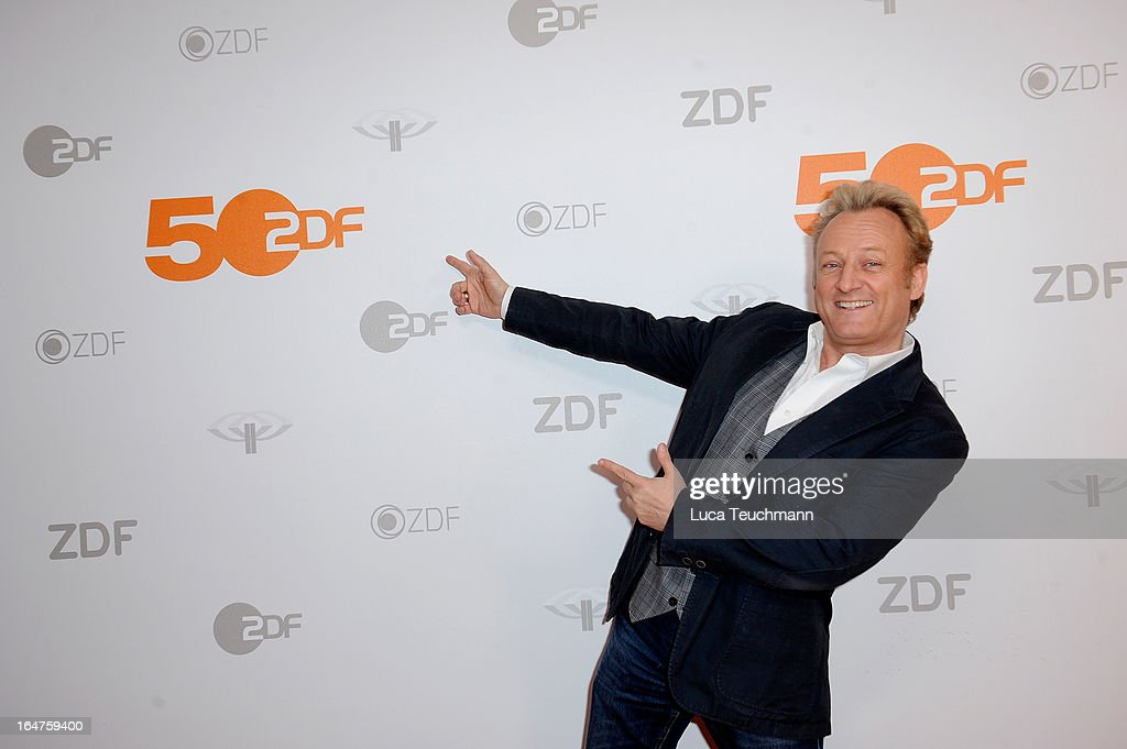 Uwe Huebner poses on March 27, 2013 after a taping of one of the segments of the television program '50 Jahre ZDF' (50 Years of ZDF) in Berlin, Germany. The television network ZDF, known for its TV programs 'heute' and 'Wetten Dass..?' was founded in 1961 and is celebrating its 50th birthday with the broadcast of an anniversary show.