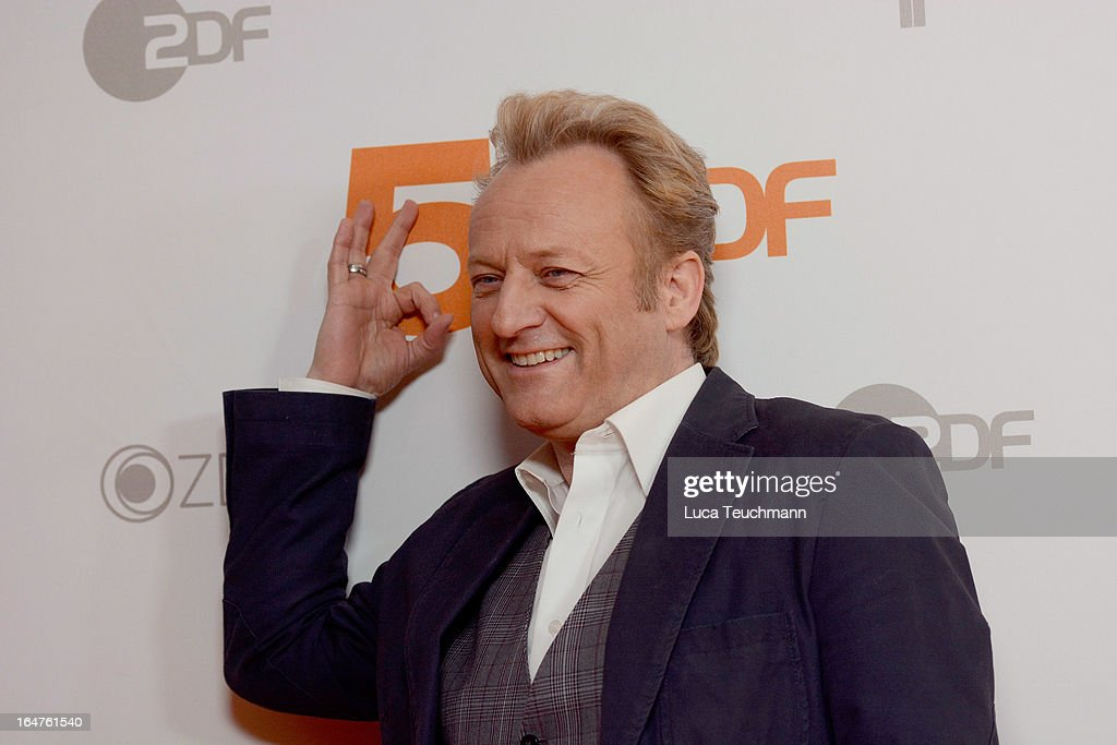 Uwe Huebner poses on March 27, 2013 after a taping of one of the segments of the television program '50 Jahre ZDF' (50 Years of ZDF) in Berlin, Germany. The television network ZDF, known for its TV programs 'heute' and 'Wetten Dass..?' was founded in 1961 and is celebrating its 50th birthday with the broadcast of an anniversary show. )