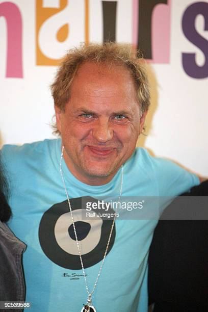 Uwe Ochsenknecht attends a press conference for the musical 'Hairspray' at the 'Musical Dome' on October 30 2009 in Cologne Germany