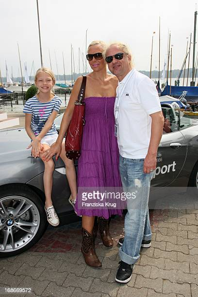 Uwe Ochsenknecht with wife Natascha and daughter Cheyenne at 'BMW Sailing Cup' at the Wannsee in Berlinat the Wannsee in Berlin