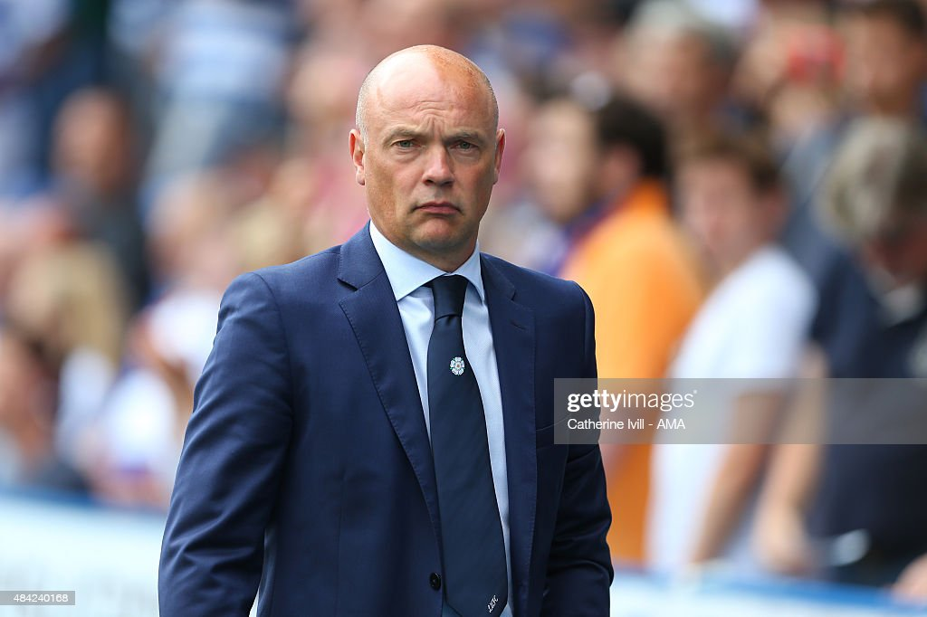 Uwe Rosler manager of Leeds United before the Sky Bet Football League Championship between Reading and Leeds United at Madejski Stadium on August 16, 2015 in Reading, England.