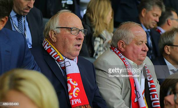 Uwe Seeler is seen prior to the EURO 2016 Qualifier match between Germany and Poland at CommerzbankArena on September 4 2015 in Frankfurt am Main...