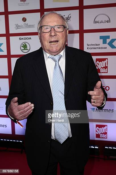Uwe Seeler poses for a picture at the Sport Bild Award 2016 at Fischauktionshalle on August 29 2016 in Hamburg Germany