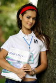 Hammasa Kohistani the first Muslim Miss England is pictured at Uxbridge College in London 31 August 2006 where she is to resume her Alevel studies...