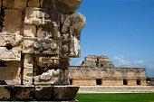 """Corner detail in Uxmal, Mexico."""