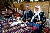 Uzbekistan Bukhara Local Women In Outdoor Restaurant