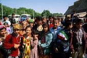 Uzbekistan Bukhara Street Scene Local School Children