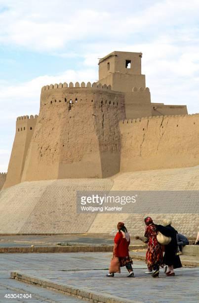 Uzbekistan Khiva Old Town Wall Kunyaark Fortress