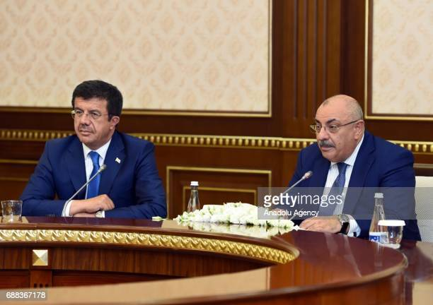 Uzbekistan President Shavkat Mirziyoyev meets Turkish Deputy Prime Minister Tugrul Turkes and Turkish Economy Minister Nihat Zeybekci in Tashkent...