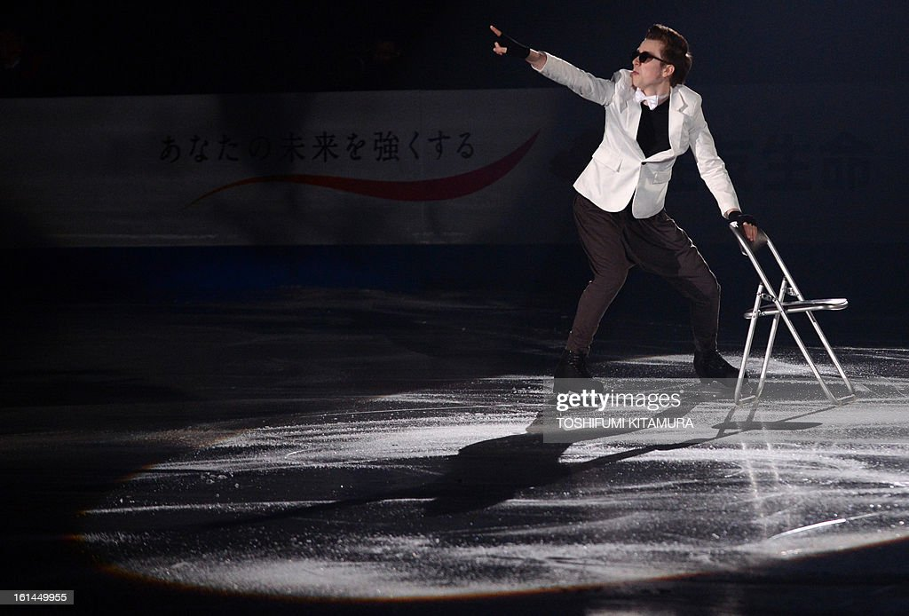Uzbekistan's Misha Ge performs his men's routine in the gala exhibition event after the Four Continents figure skating championships in Osaka on February 11, 2013.