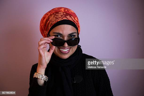 TORONTO ON JANUARY 25 Uzma Jalaluddin models a hijab style which she calls the turban hijab