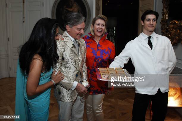 Uzma SarfrazKhan Geoffrey Bradfield Helena Lehane and attend Reception for Geoffrey Bradfield 'EX ARTE' Book Launch at Carlton Hobbs Mansion on June...