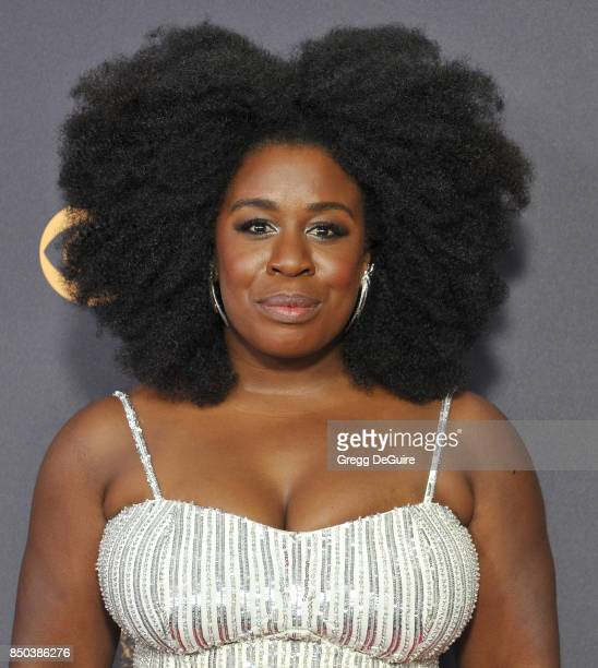 Uzo Aduba arrives at the 69th Annual Primetime Emmy Awards at Microsoft Theater on September 17 2017 in Los Angeles California