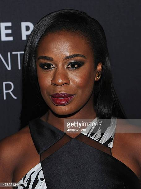 Uzo Aduba attends A Tribute To AfricanAmerican Achievements In Television hosted by The Paley Center For Media at Cipriani Wall Street on May 13 2015...