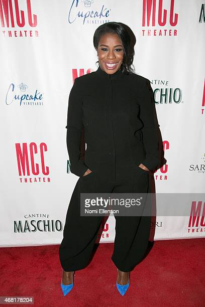 Uzo Aduba attends MCC Theater's 2015 Gala Miscast 2015 at Hammerstein Ballroom on March 30 2015 in New York City