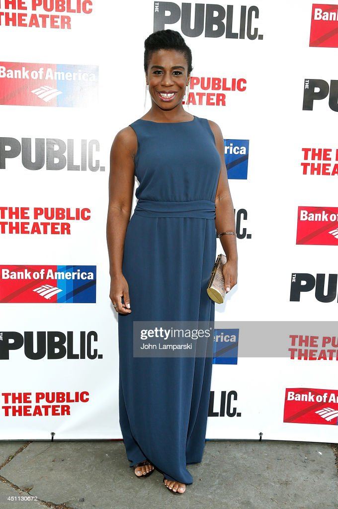 <a gi-track='captionPersonalityLinkClicked' href=/galleries/search?phrase=Uzo+Aduba&family=editorial&specificpeople=7042411 ng-click='$event.stopPropagation()'>Uzo Aduba</a> attends the Public Theater's 2014 Gala celebrating 'One Thrilling Combination' on June 23, 2014 in New York, United States.