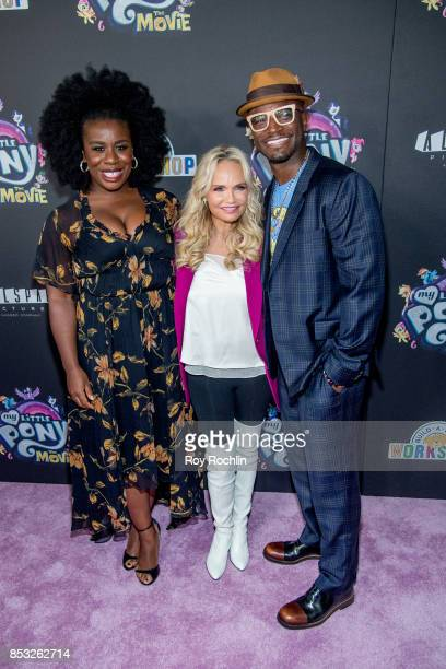 Uzo Aduba Kristin Chenoweth and Taye Diggs attend 'My Little Pony The Movie' New York screening at AMC Lincoln Square Theater on September 24 2017 in...