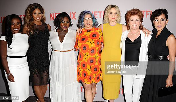 Uzo Aduba Laverne Cox Danielle Brooks Jenji Kohan Taylor Schilling Kate Mulgrew and Selenis Leyva attend Netflix's 'Orange Is The New Black' For Your...