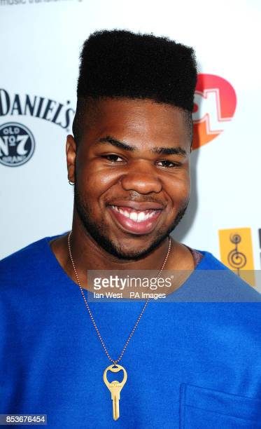 Uzoechi Osisioma Emenike known professionally as Mnek arriving at the O2 Silver Clef awards Awards at the Hilton Hotel London