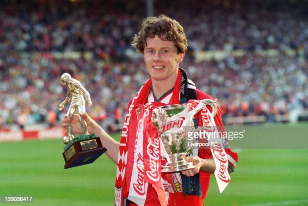 LFC v Bolton Wanderers in the Coca Cola Cup Final at Wembley game won 21 Liverpool's Steve McMananman celebrate winning the Coca Cola Cup and the Man...