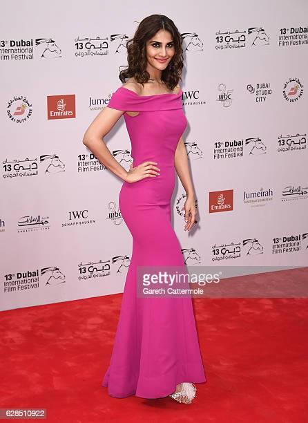 Vaani Kapoor attends the Befikre red carpet during day two of the 13th annual Dubai International Film Festival held at the Madinat Jumeriah Complex...