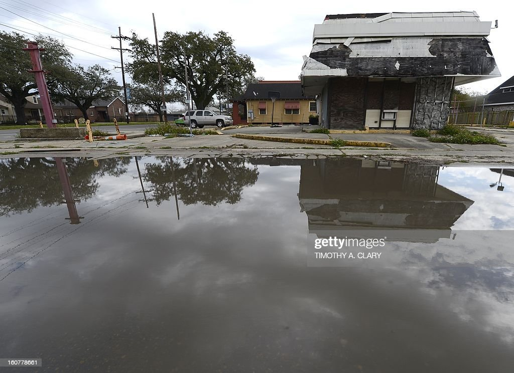 A vacant lot is seen in the Lower Ninth Ward of New Orleans February 5, 2013. The Ninth Ward suffered the worst damage from Hurricane Katrina that occured in 2005 after multiple breaches in the levees of at least four canals. As of March 2009, hundreds of houses have been rebuilt, and dozens of new homes have been constructed.