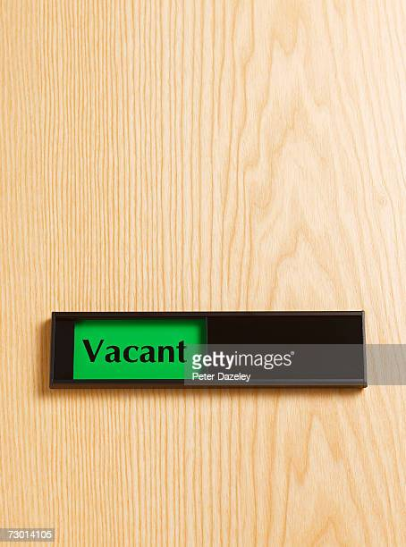 Vacant Or Engaged Sign Stock Photos And Pictures Getty