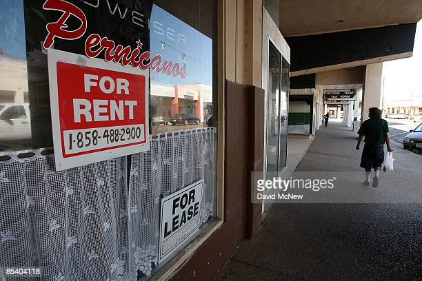 Vacant storefronts are seen on Main Street March 12 2009 in El Centro California El Centro is suffering the highest unemployment rate in the nation...