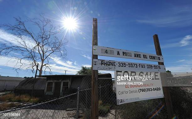 A vacated house for sale in the southern Californian town of El Centro a town of 50000 people where 304 percent of the workage population are without...