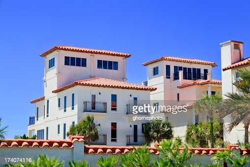 Vacation beach cottages on the florida gulf coast stock for Gulf shore cottages